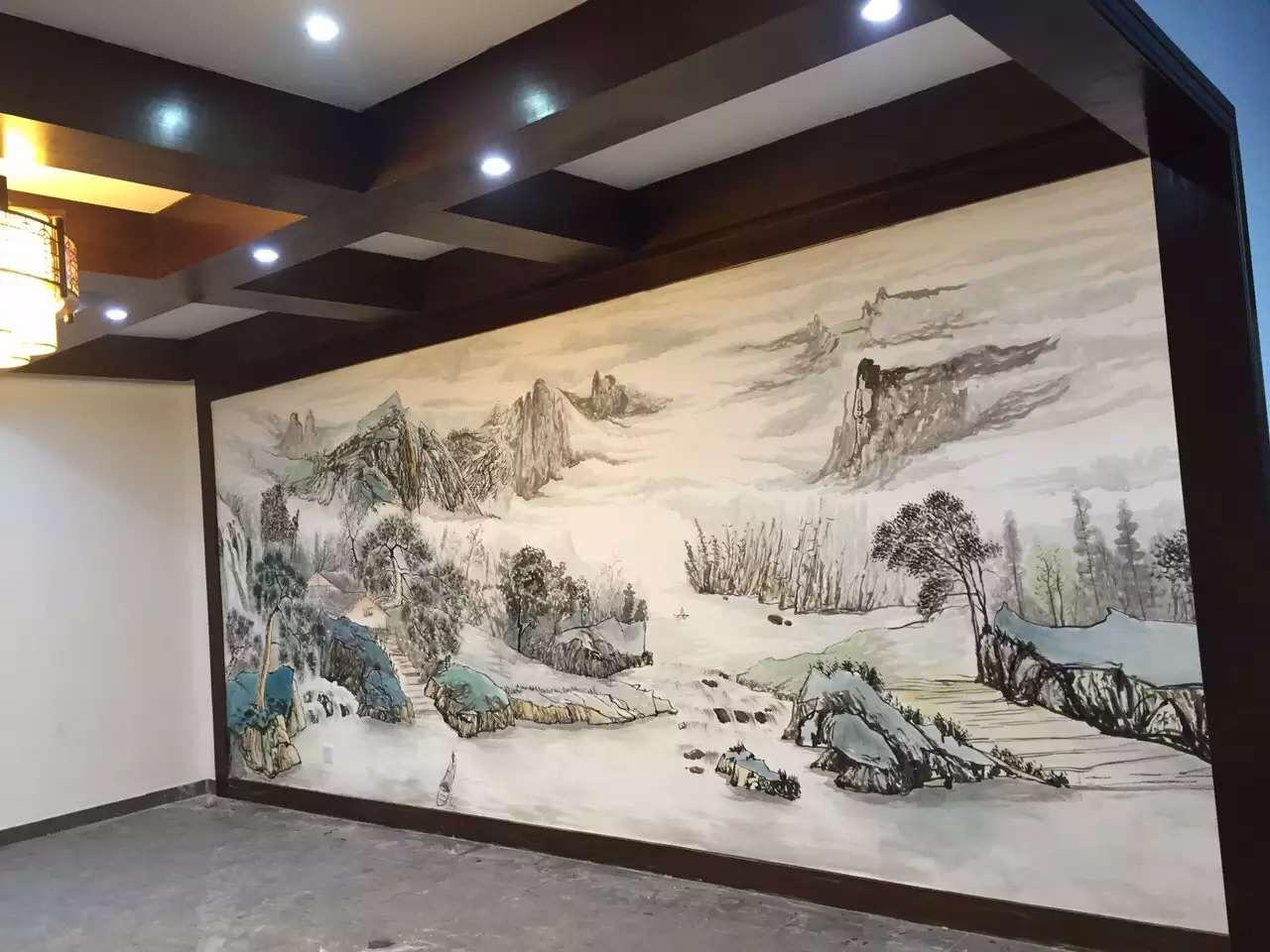 一些饭店常用手绘壁画作品欣赏!-金兰草手绘壁画公司